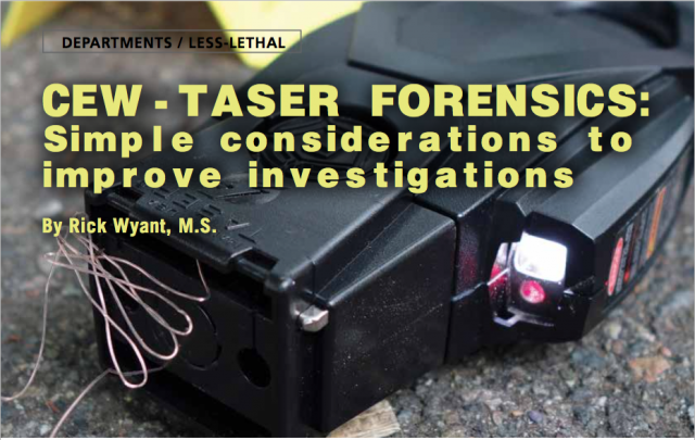 TASER forensics reconstruction stung conducted electrical weapons