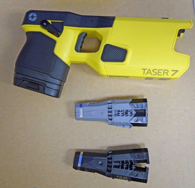 Taser 7 unit and cartridges